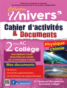 Cahier d'activités et Documents Physique chimie - 2AC